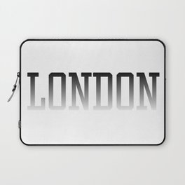 London Text Black Fade to White Laptop Sleeve