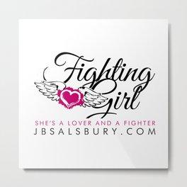 Fighting Girls Metal Print