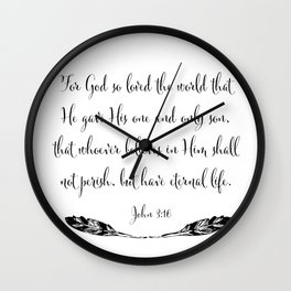 For God So Loved The World Wall Clock