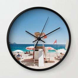 A Day at the Beach - Kaputaş Plajı, Turkey Wall Clock