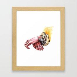 Hands snake Framed Art Print