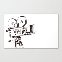 vintage filming Canvas Print