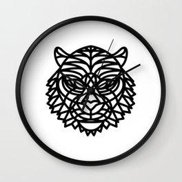 Tiger Head (Geometric) Wall Clock