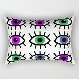 Open Your Eyes - Festival Pattern Rectangular Pillow
