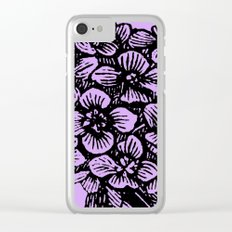 Lavender Hydrangea Clear iPhone Case