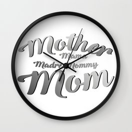 Mother Mama Mommy Mom Mothers Day Gifts Wall Clock