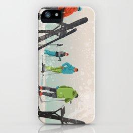 Skiers Summit iPhone Case
