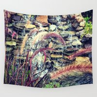 waterfall Wall Tapestries featuring Waterfall by ALP-Fotografie