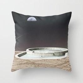 Pool in Space Throw Pillow