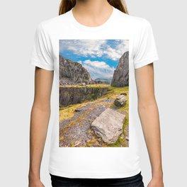 Dinorwic Slate Quarry Snowdonia T-shirt