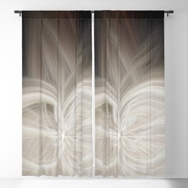 Coffee Blossom Blackout Curtain