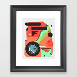 Camera blobsqura Framed Art Print
