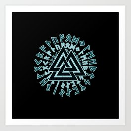 Valknut | Viking Warrior Symbol Triangle Art Print