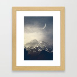 Mist over mount Rainier Framed Art Print