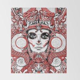 Red Serpent Queen Throw Blanket