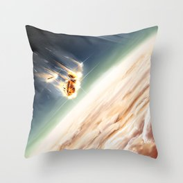 Cassini's Demise Throw Pillow