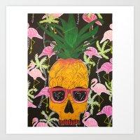 spongebob Art Prints featuring Spongebob by Paula Bridgewater
