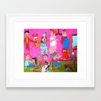 garfield Framed Art Prints featuring Mature Garfield by tonitiger415