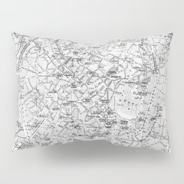 Vintage Map of Brussels (1905) BW Pillow Sham