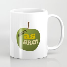 Green apple SWEET AS BRO Coffee Mug