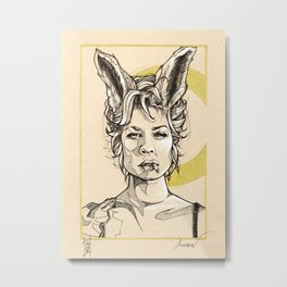 Smoking bunny Metal Print