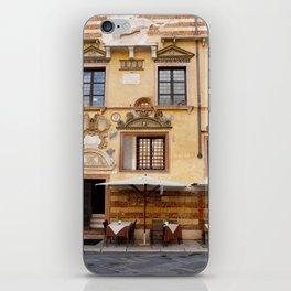 A Patio in Verona iPhone Skin