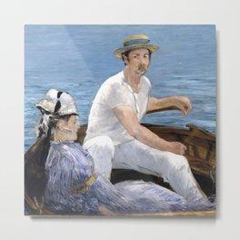 "Édouard Manet ""Boating"" Metal Print"