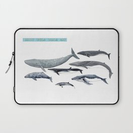 Happy world whale day Laptop Sleeve