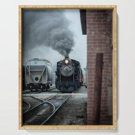 Strasburg Railroad Steam Engine #90 Vintage Train Locomotive Pennsylvania Serving Tray
