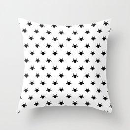 patter goat black Throw Pillow