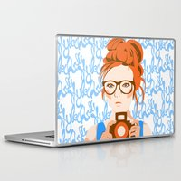 photographer Laptop & iPad Skins featuring Photographer by KylaArt