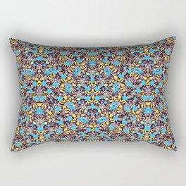 Exotic Stylized Nature Pattern Rectangular Pillow