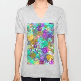 Smudges Abstract Unisex V-Neck