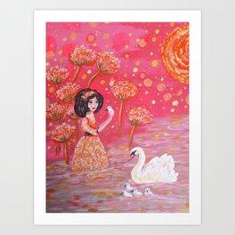 The Swan Girl Art Print