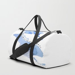 Slither: delicate shades and patterns of blue Duffle Bag
