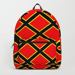 red cross-abstraction,abstract,geometric,geometrical,pattern,cross,order Backpack