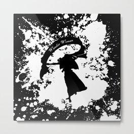 Wander Woman Splatter Metal Print