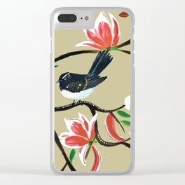 The magnolia and the willy wag tail Clear iPhone Case