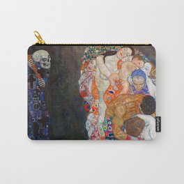 Death and Life by Gustav Klimt Carry-All Pouch