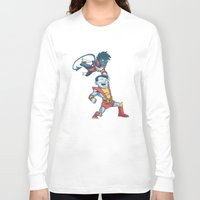 nightcrawler Long Sleeve T-shirts featuring X-men classic duo by Alex Santaló