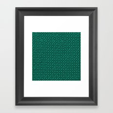 Teal Pattern Framed Art Print