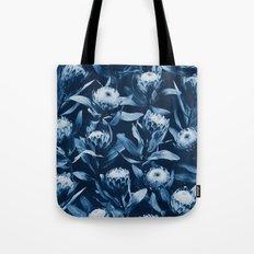 Evening Proteas - Denim Blue Tote Bag