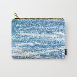 Steel blue nebulous watercolor texture Carry-All Pouch