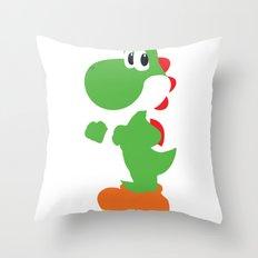 Yoshi - Minimalist - Nintendo Throw Pillow