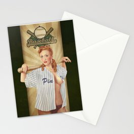 VINTAGE GIRLS - Baseball Stationery Cards
