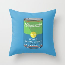 Howl's moving castle - Miyazaki - Special Soup Series  Throw Pillow