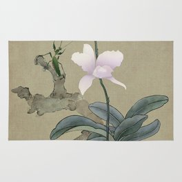 Orchid and Mantis Rug