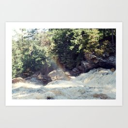 a rainbow at the falls Art Print