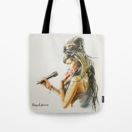 Winehouse Portrait 2 Tote Bag