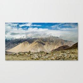 Chang La pass on the way to Pangong Tso Lake, Ladakh, India Canvas Print